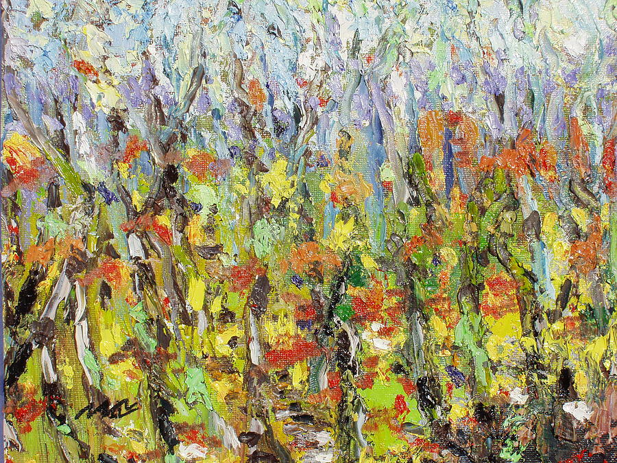 Landscape Paintings Painting - Colorful Forest by Seon-Jeong Kim