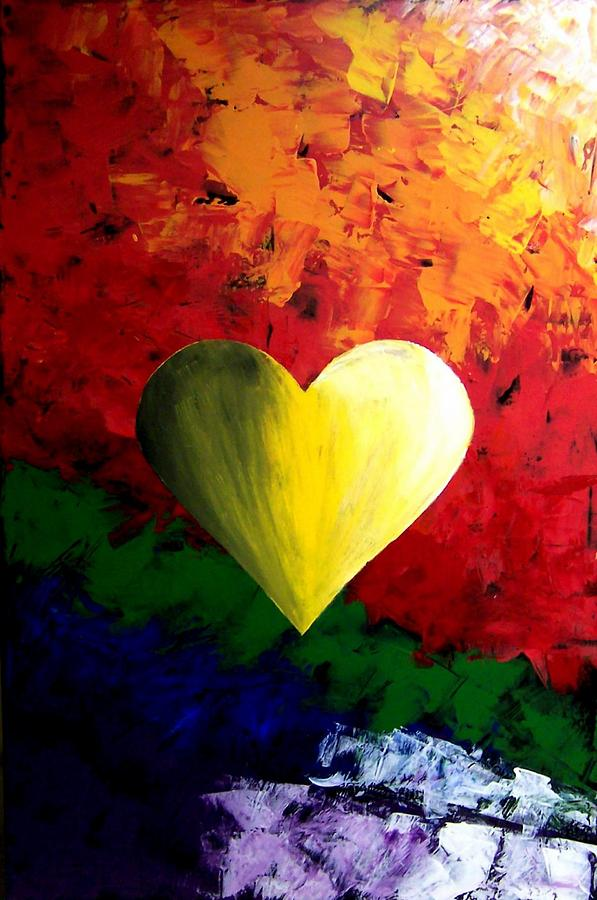Colorful Painting - Colorful Heart Valentine Valentines Day by Teo Alfonso