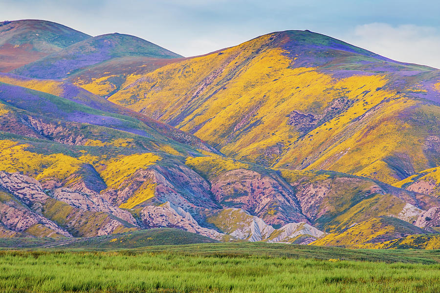 Colorful Hills At Sunset Photograph