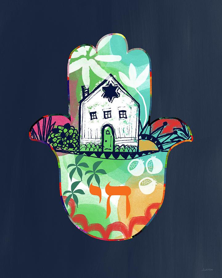 Hamsa Mixed Media - Colorful Home Hamsa- Art By Linda Woods by Linda Woods