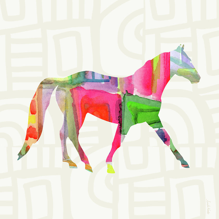 Horse Painting - Colorful Horse 1- Art by Linda Woods by Linda Woods