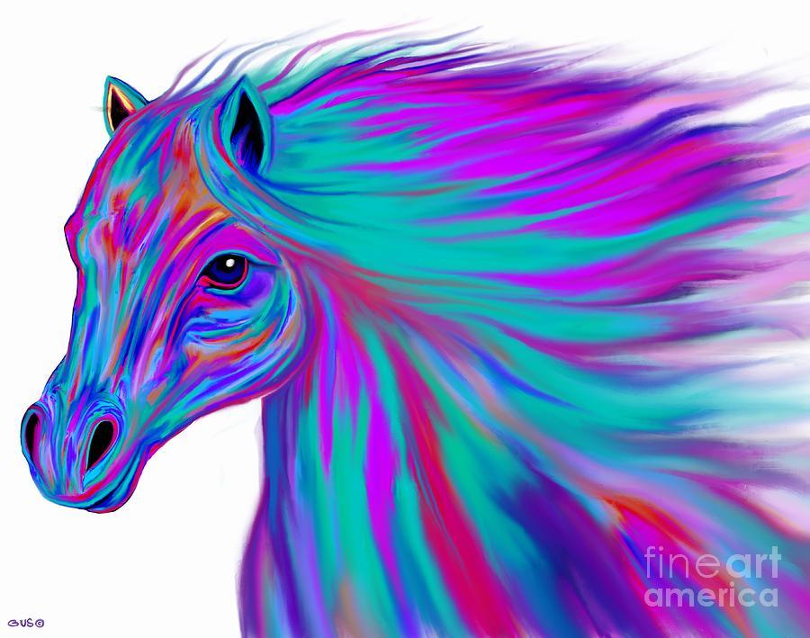 Colorful Horse Digital Art