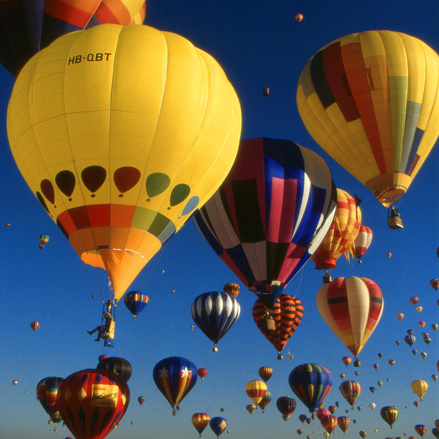 - Colorful Hot Air Balloons - Mass Ascension Photo Photograph By