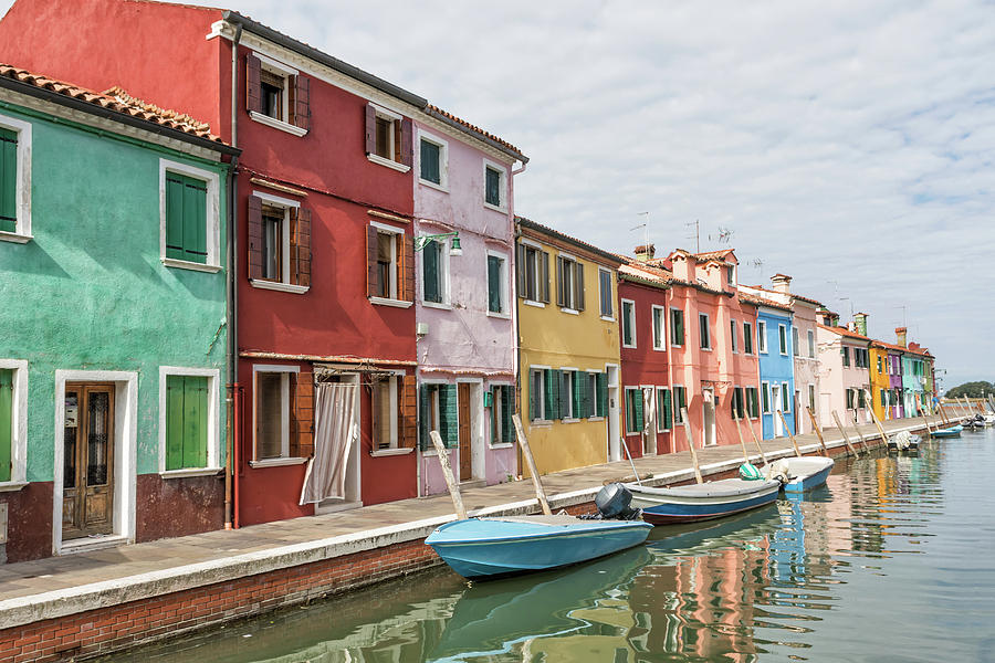Colorful Photograph - Colorful Houses On The Island Of Burano by Jaroslav Frank