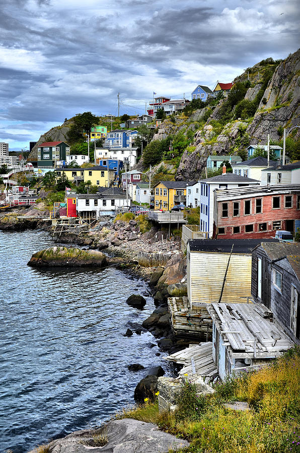 Colorful houses photograph by steve hurt for Newfoundland houses