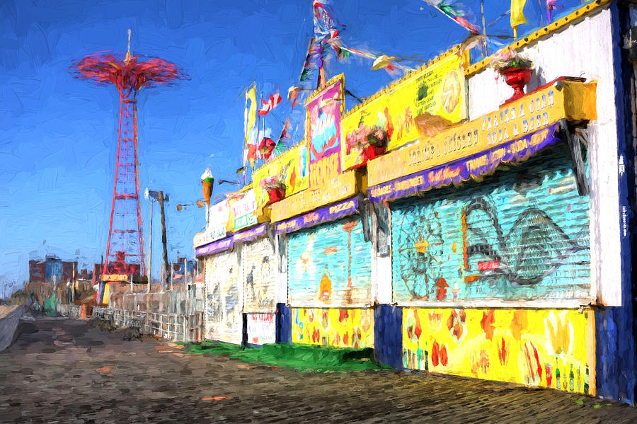 Coney Island Photograph - Colorful by JC Findley