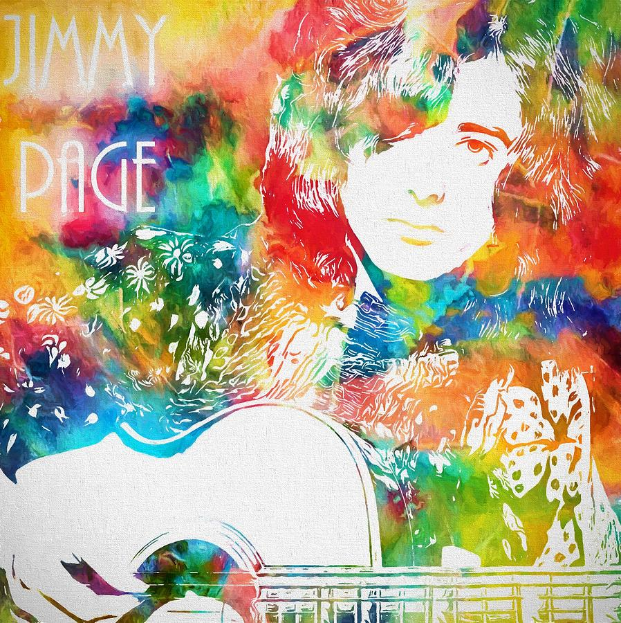 Colorful Jimmy Page Painting