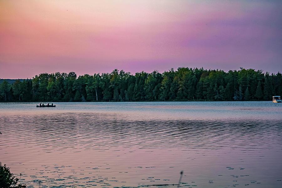 Landscape Photograph - Colorful lake-side sunset by Maxwell Dziku