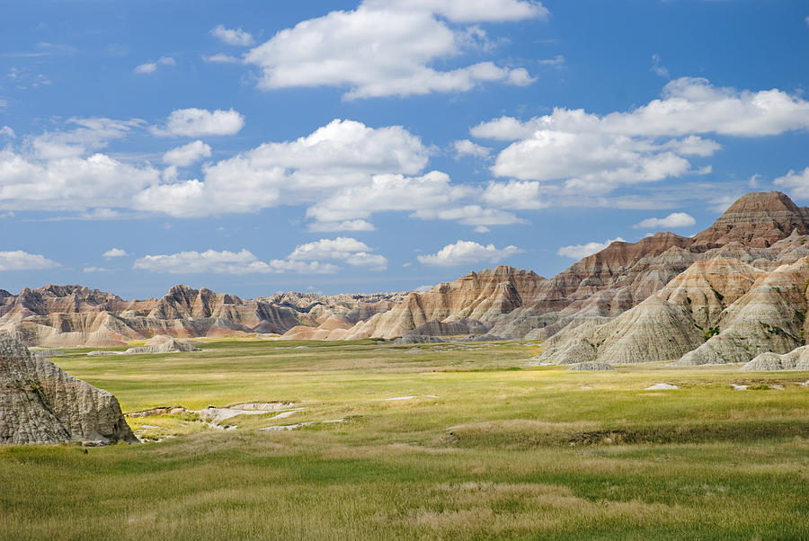 Badlands Photograph - Colorful Landscape In Badlands National by Philippe Widling