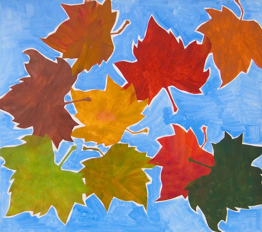 Leaf Painting - Colorful Leaves by Vitali Komarov