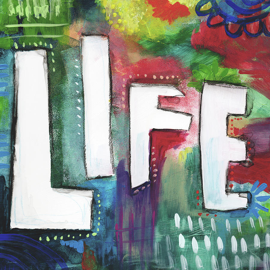 Outsider Painting - Colorful Life- Art By Linda Woods by Linda Woods