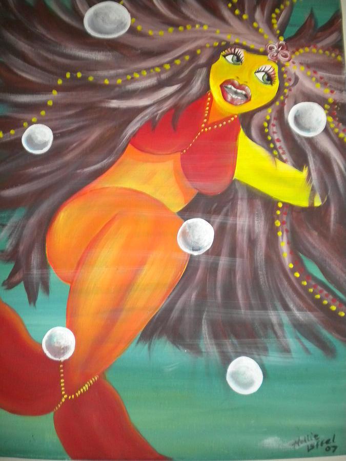 Mermaid Painting - Colorful Mermaid by Hollie Leffel