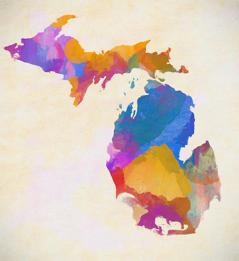 Colorful Painting - Colorful Michigan by Dan Sproul