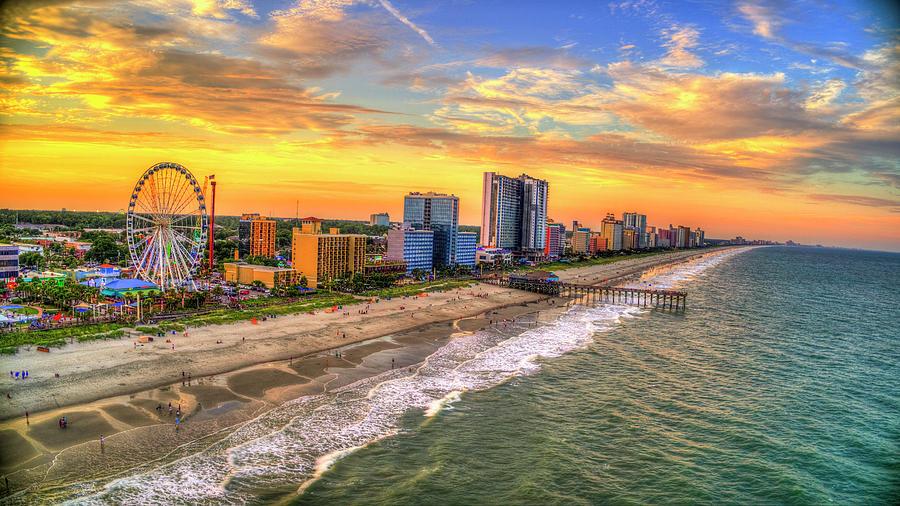 Colorful Myrtle Beach Sunset by Robbie Bischoff