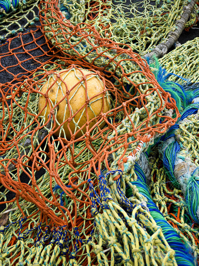 Fishing Photograph - Colorful Nets and Float by Carol Leigh