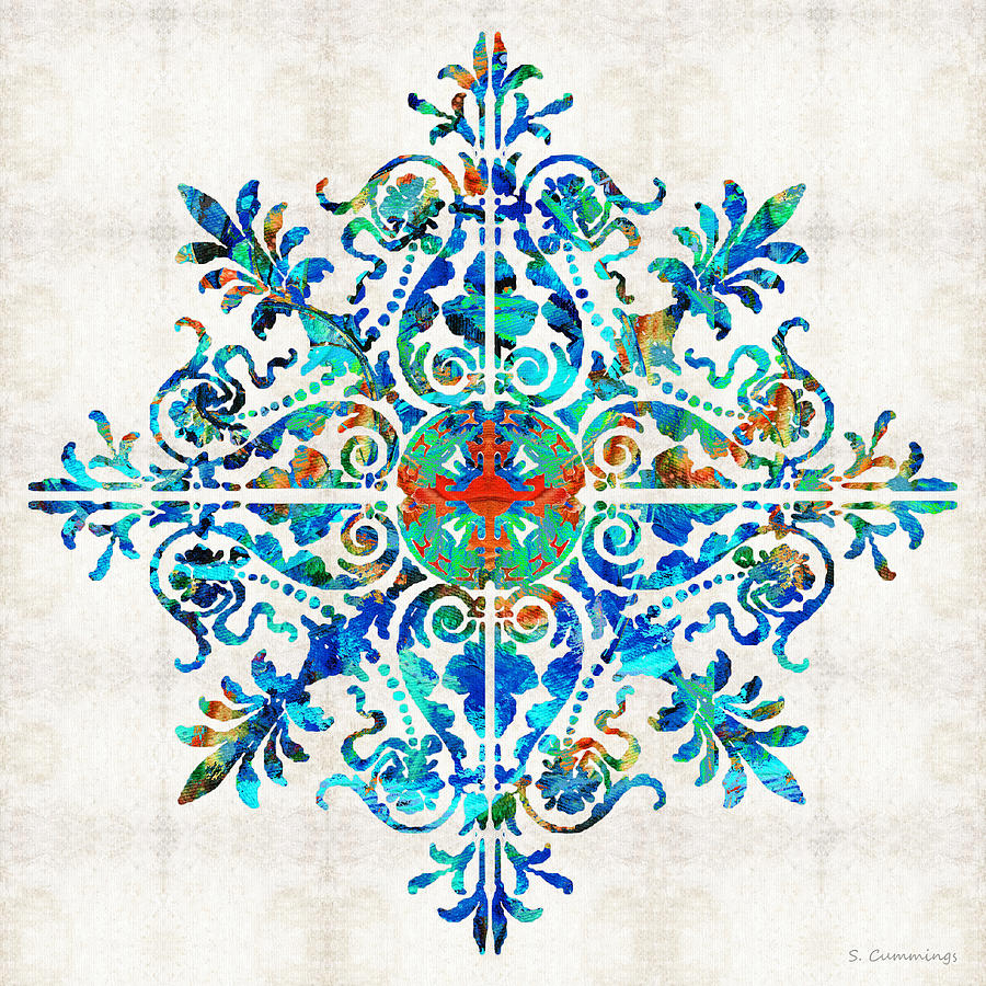 Mandala Painting - Colorful Pattern Art - Color Fusion Design 5 By Sharon Cummings by Sharon Cummings