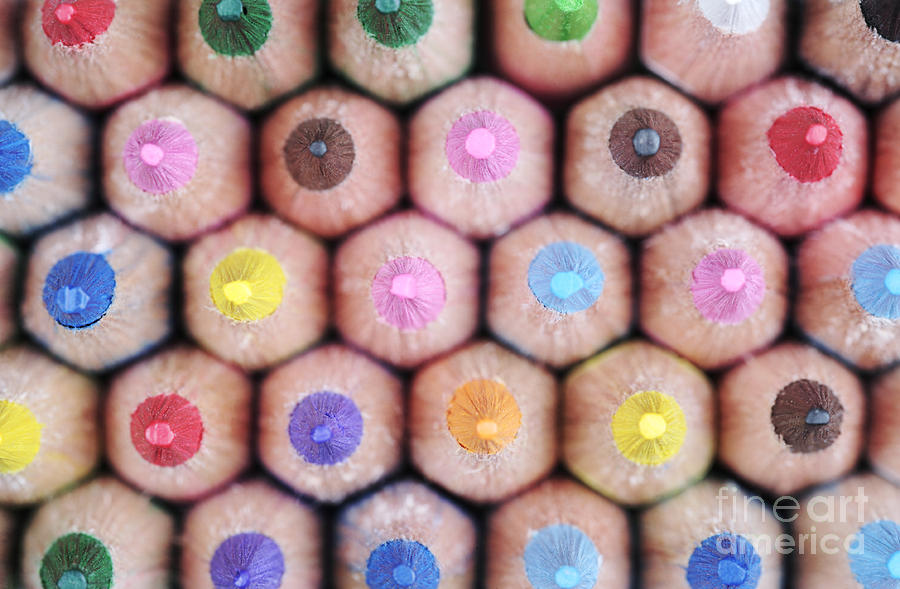 Pencil Photograph - Colorful Pencils 2 by Neil Overy