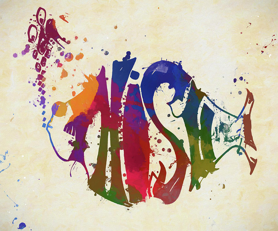 Band Painting - Colorful Phish Logo by Dan Sproul