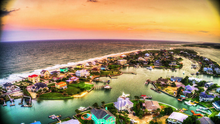 Colorful Point Sunset by Robbie Bischoff