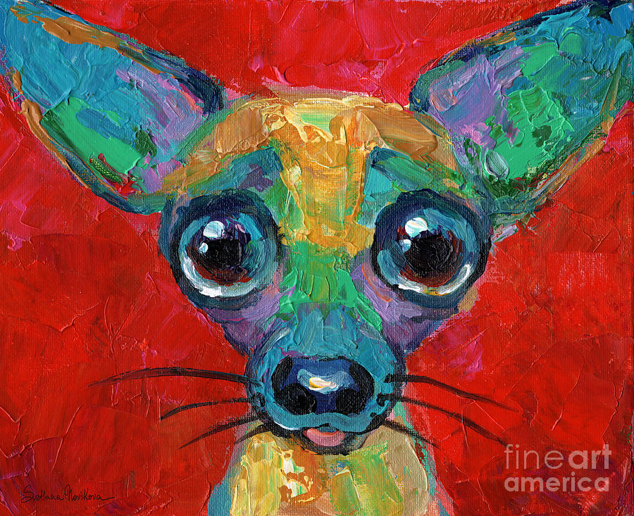 Colorful Pop art chihuahua painting by Svetlana Novikova