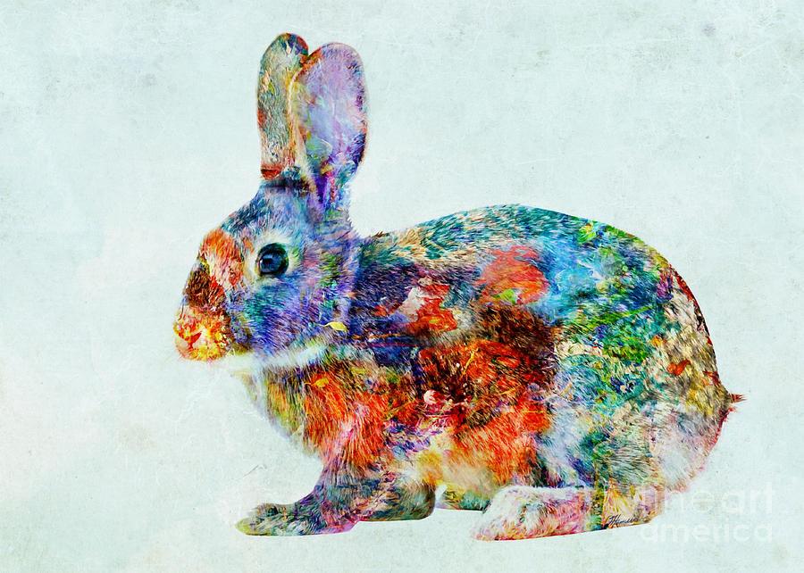Rabbit Paintings On Wood