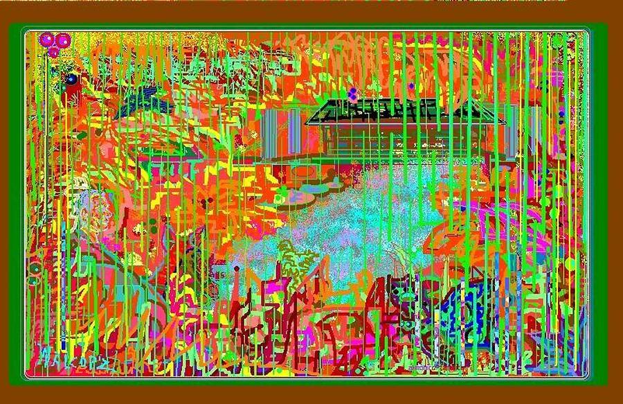 Colorful Rain Digital Art by Walcopz Valencia