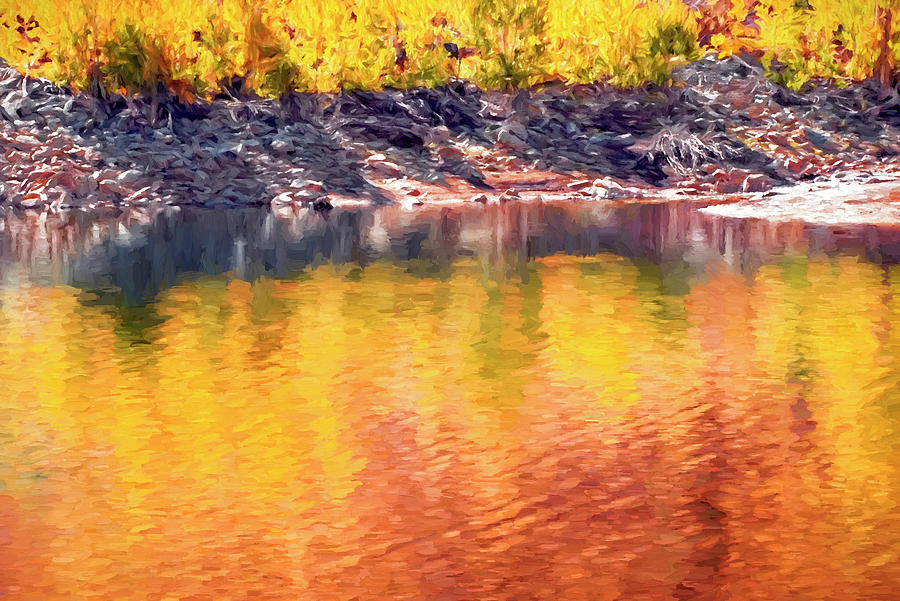 Landscapes Digital Art - Colorful Reflections by Casey Heisler