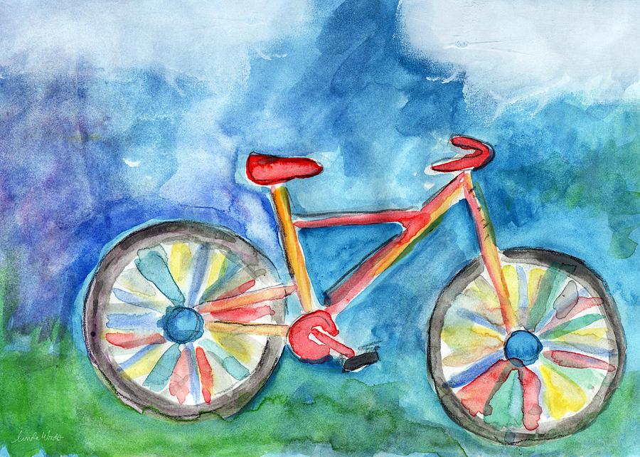 Bike Painting - Colorful Ride- Bike Art By Linda Woods by Linda Woods
