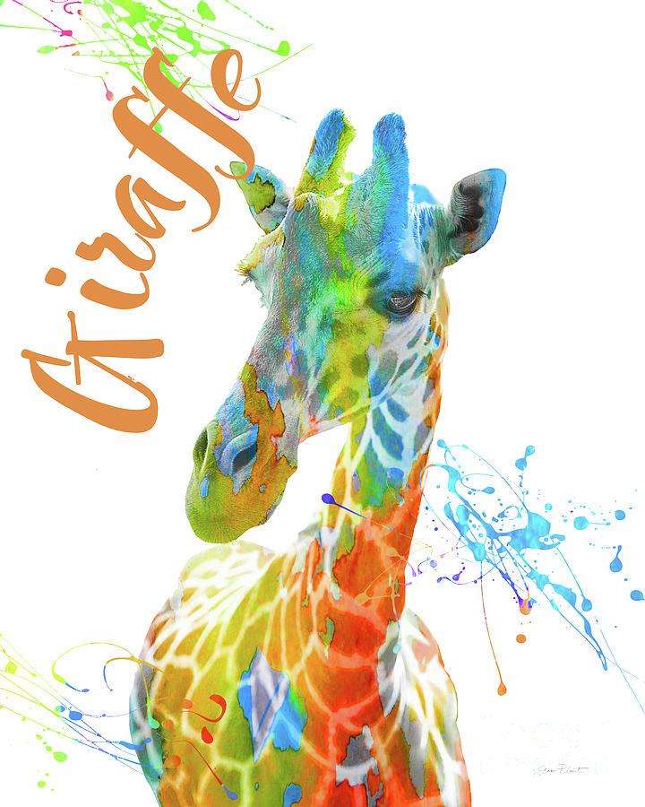 Safari Digital Art - Colorful Safari Animals D by Jean Plout
