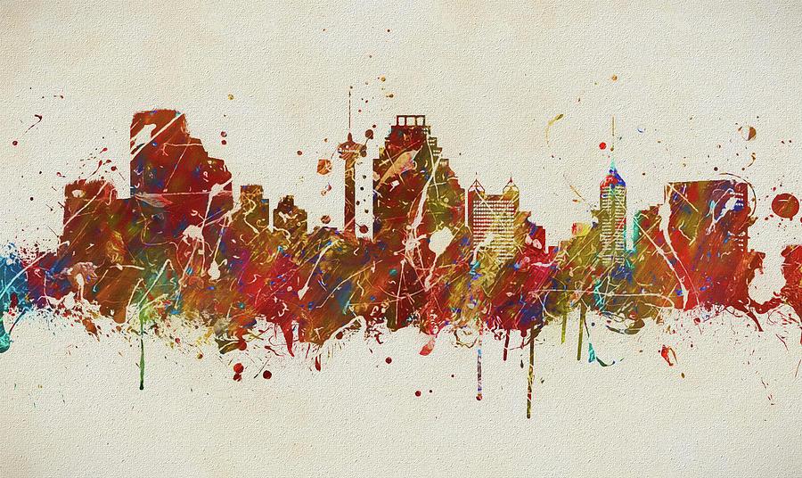 Colorful San Antonio Skyline Painting