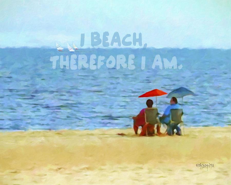 a2096ccd12 Colorful Seascape Beach Umbrellas Inspirational Quote by Rebecca Korpita