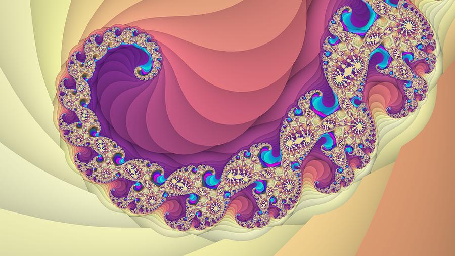 Colorful Spiral Fractal Art Digital Art