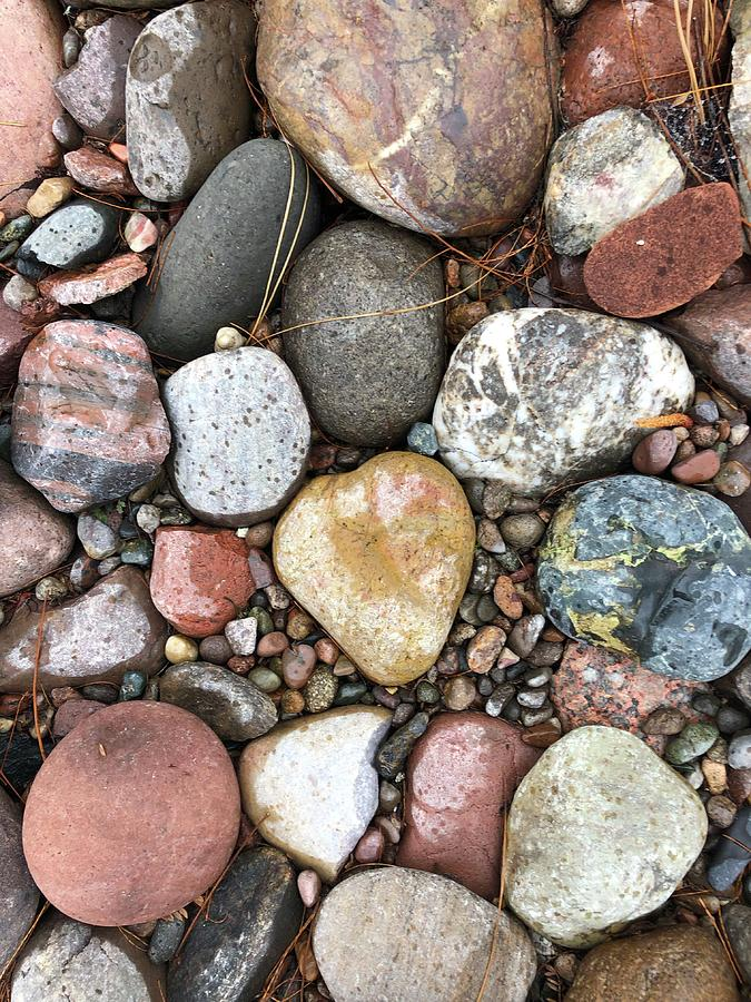 Colorful stones by Dina Calvarese