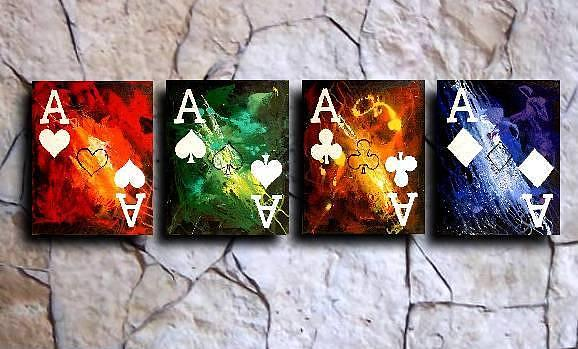 Colorful Painting - Colorful Stormy Aces by Teo Alfonso