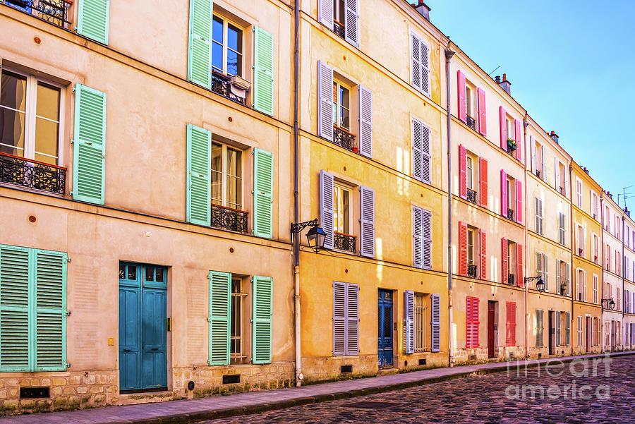 Paris Photograph - Colorful Street In Paris by Delphimages Photo Creations