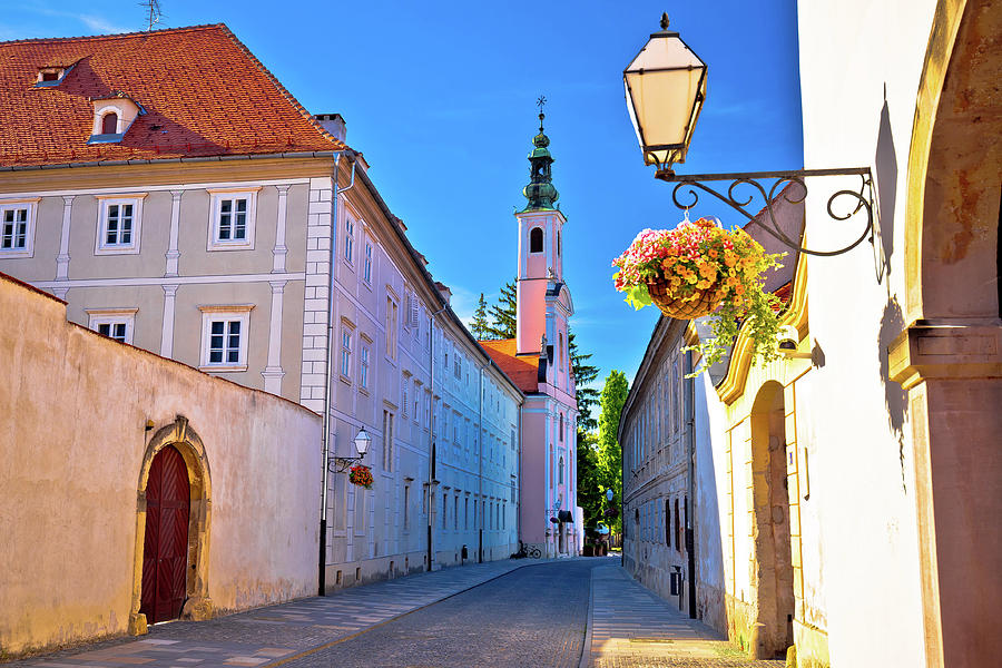 Varazdin Photograph - Colorful Street Of Baroque Town Varazdin  by Brch Photography