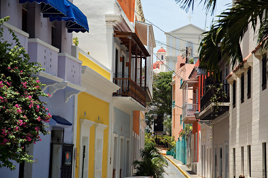Architecture Photograph - Colorful Streets Of Old San Juan by George Oze