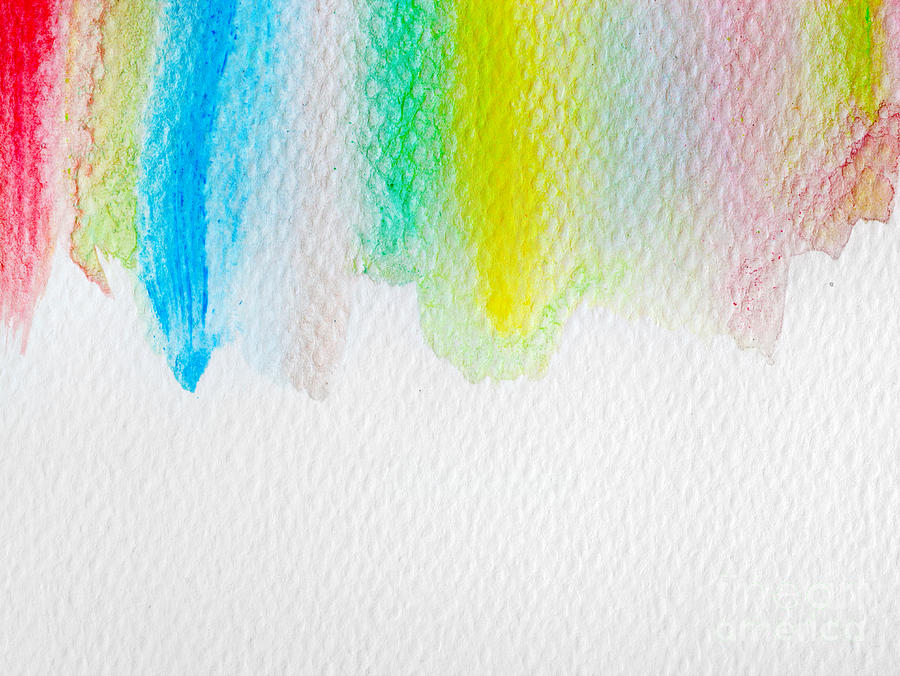 Colorful Stripes Watercolor Paint On Canvas Super High Resolution