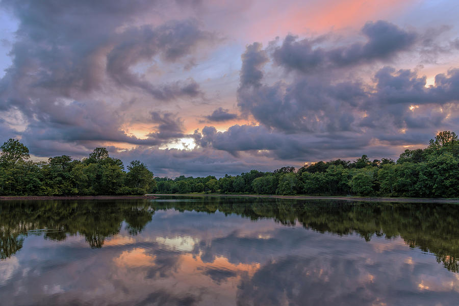Colorful Sunset at the Lake by Lori Coleman