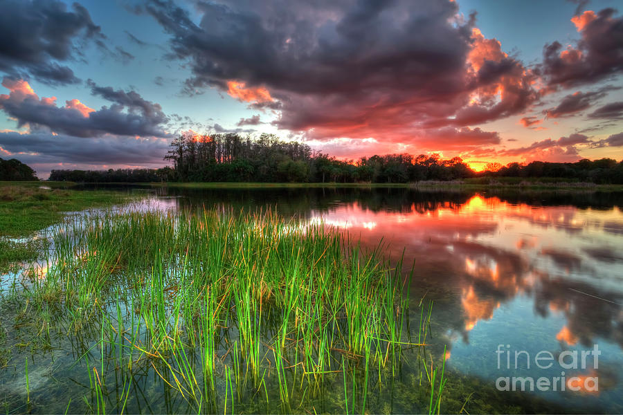Colorful Sunset Clouds Photograph by Rick Mann