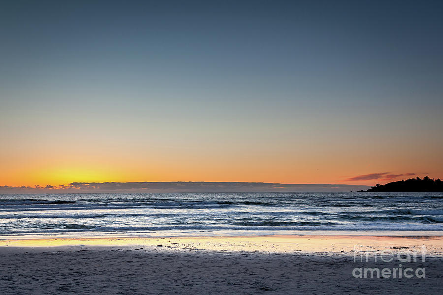 Pacific Photograph - Colorful Sunset Over A Desserted Beach by PorqueNo Studios