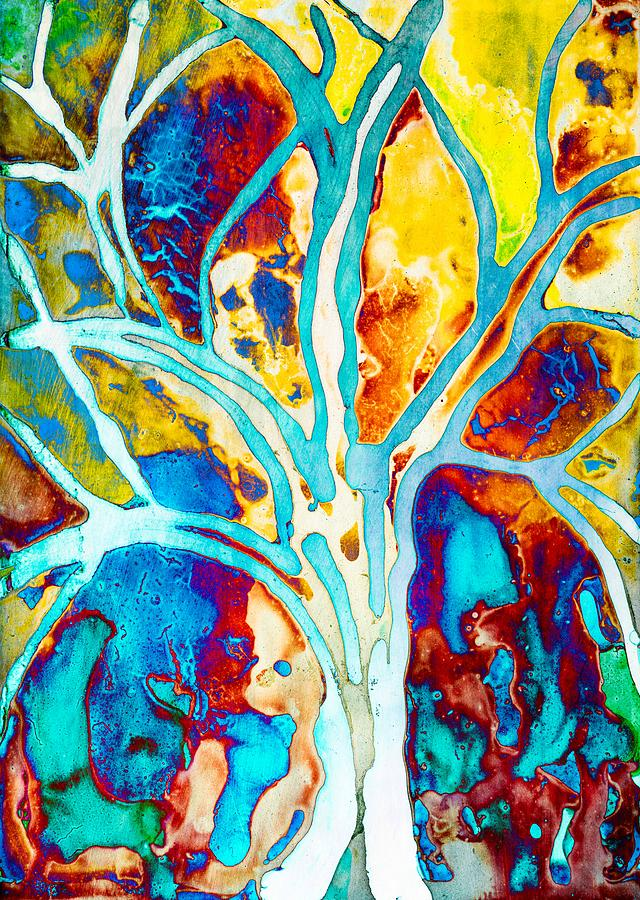 Colorful Tree Art By Priya Ghose  by Priya Ghose