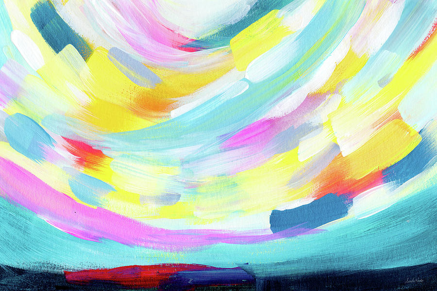 Abstract Painting - Colorful Uprising 4 - Abstract Art By Linda Woods by Linda Woods