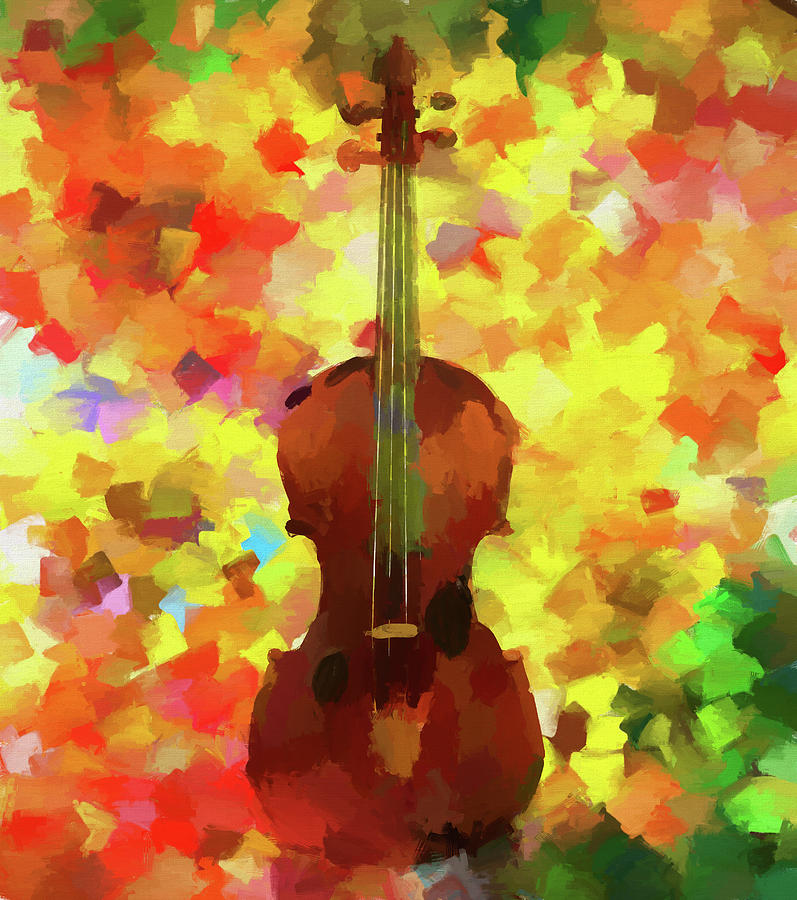 Violin Painting - Colorful Violin by Dan Sproul
