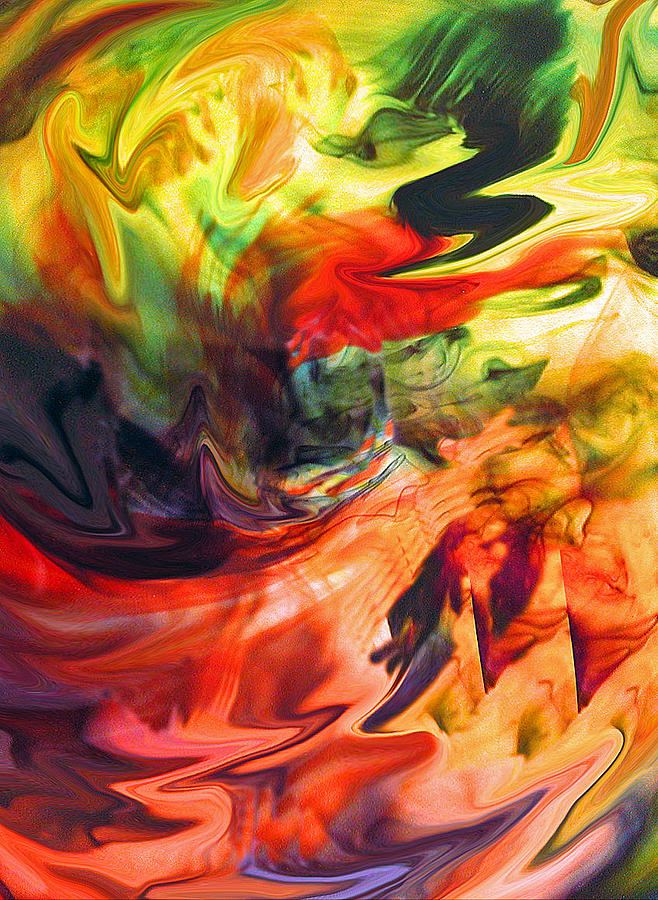 Abstract Art Paintings Painting - Colorful Waves by Jennifer Godshalk