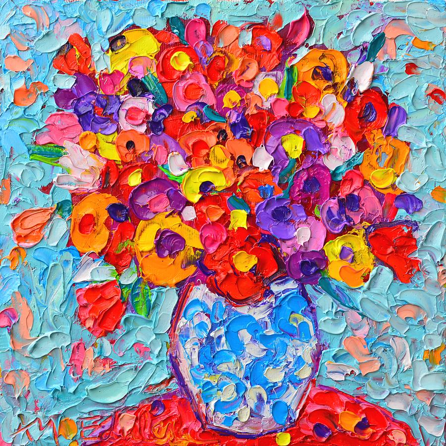 Abstract Flower Painting Artists