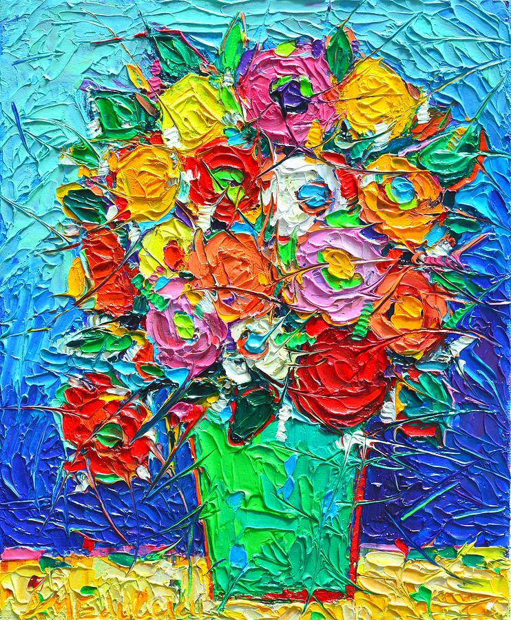 Colorful Abstract Palette Knife Paintings