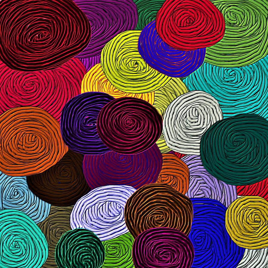 Design Yarn Art colorful yarn art mixed media by barbara chichester chichester