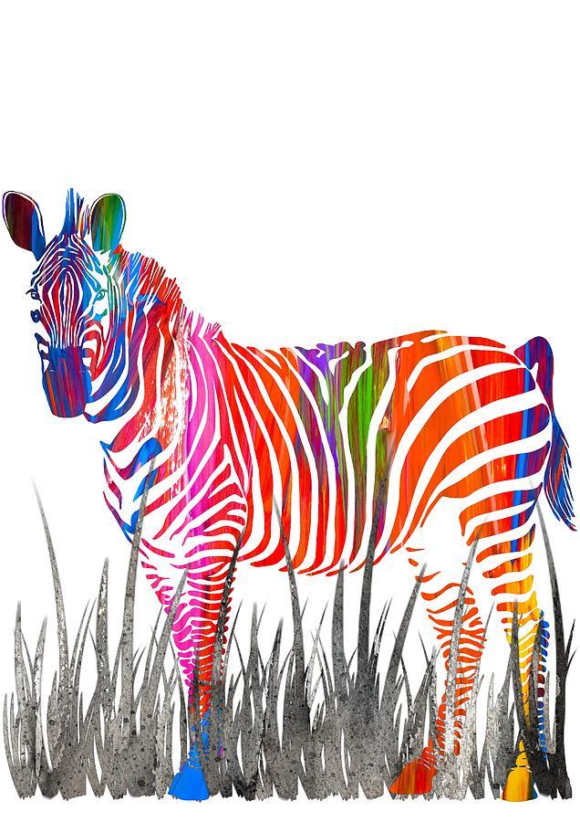 Colorful Zebra Print Nail Art Tutorial: By Diana Van Painting By Diana Van