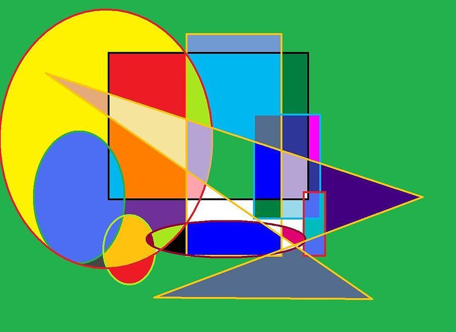 Colors And Shapes Digital Art by Gerardo Zamora
